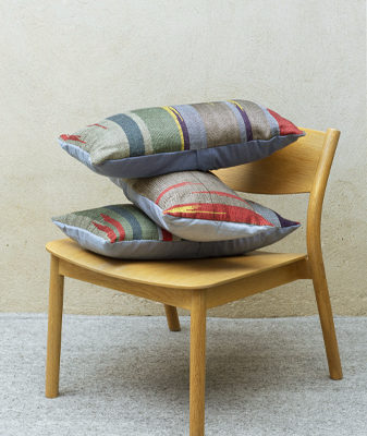Bright Ikat design handwoven Cushions