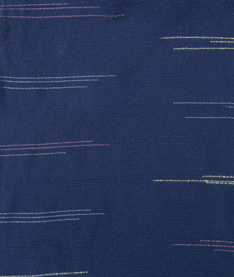 Japanese-inspired flecked indigo handwoven cloth