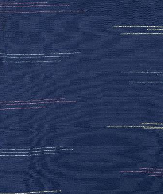 Japanese-influenced flecked indigo textile