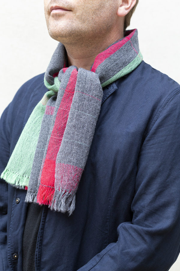 bauhaus stripe scarf knot