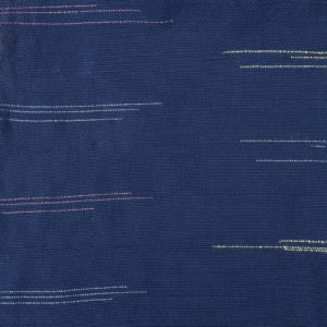 indigo ikat fabric closeup