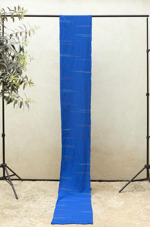royal ikat weft fabric length