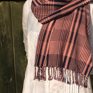 wrapped check cotton scarf short
